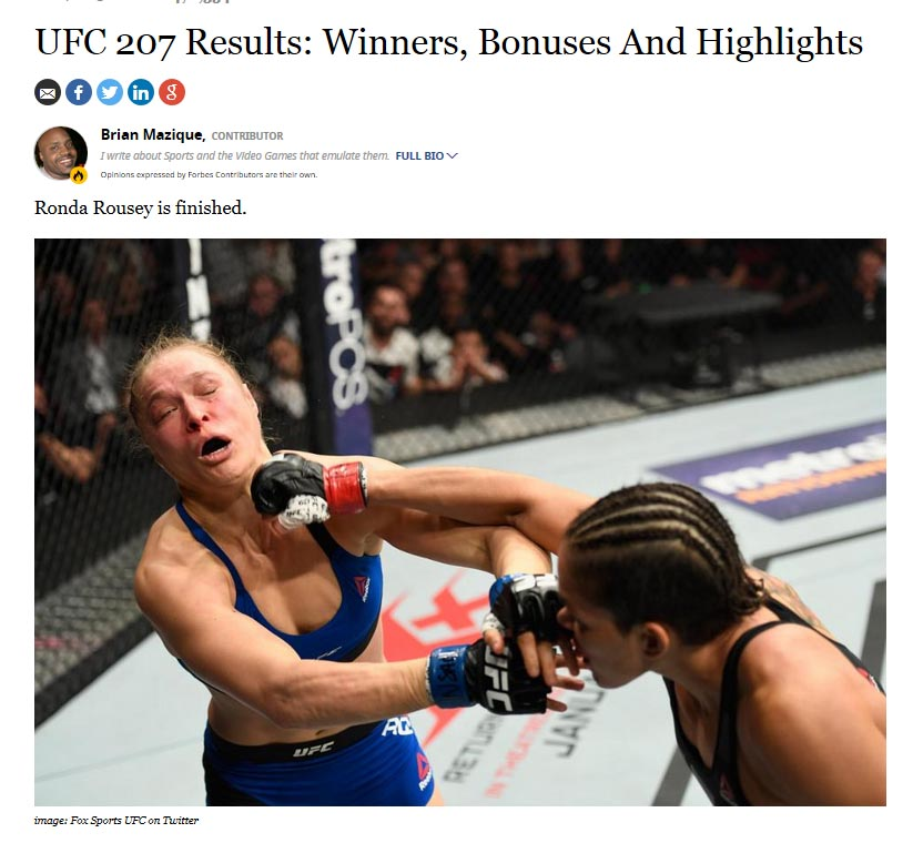 UFC 207 Results